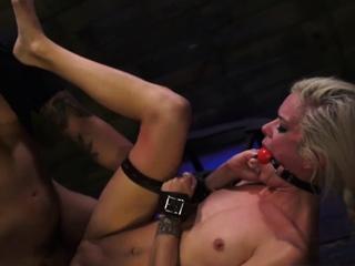 Kitten bondage and slut Halle Von is on the town on trip